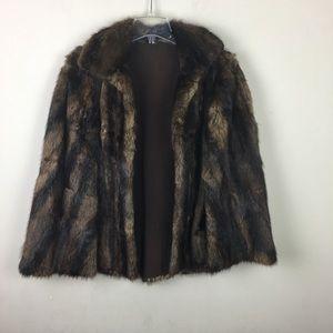 Vintage fur cape, caplet, wrap shawl